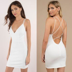 TOBI NWT Break Up Every Night Dress White Large